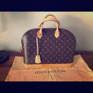 Louis Vuitton bag with authenticity code